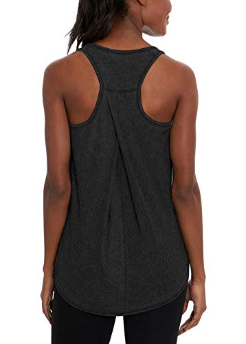 Bestisun Racerback Tank Tops Backless Workout Tanks Muscle Exercise Tops Yoga Outfits Relaxed Fit Muscle Shirts Athletic Sports Wear for Women Heather Gray XL
