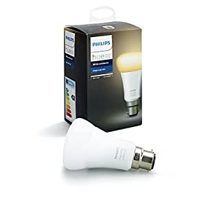 Philips Hue White Ambiance Bayonet Cap (B22) Dimmable LED Smart Bulb (Compatible with Amazon Alexa, Apple HomeKit, and Google Assistant)