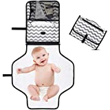 Portable Baby Changing Pad -KONKY Diaper Clutch Travel Mat for Baby Infants and Toddlers -Foldable Changing Station Nursery Travel Accessories for Modern Moms Compact Bag