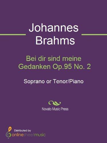 Bei dir sind meine Gedanken Op.95 No. 2 - Score