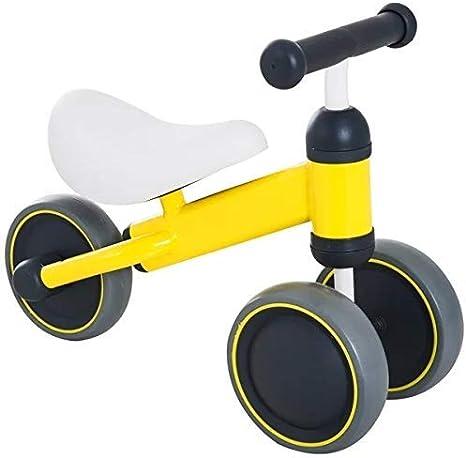 Linashop Portátil Plegable del bebé Walker Bike Balance Juguetes niño 1-3 años montan en el Coche Triciclo Niños Scooter Bicicletas (Color : Yellow)