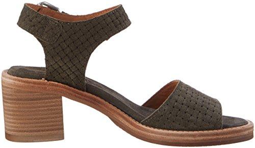 Olive Green Women's Dark Blockabsatz Mit Sandals Shabbies wYBSqx