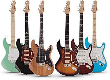 Guitarra Electrica SSS LA Select de Gear4music Black: Amazon.es ...