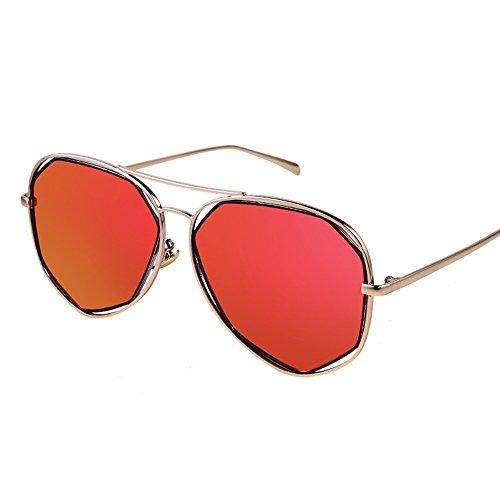 sol de irregulares la protección de sol alta Color poligonales A D neutrales la de sol Gafas de de gafas las de Gafas sol definición de polarizadas del moda ZHIRONG frescas PawE67qP