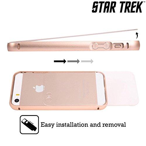 Officiel Star Trek Sur le Pont Spock Or Étui Coque Aluminium Bumper Slider pour Apple iPhone 5 / 5s / SE