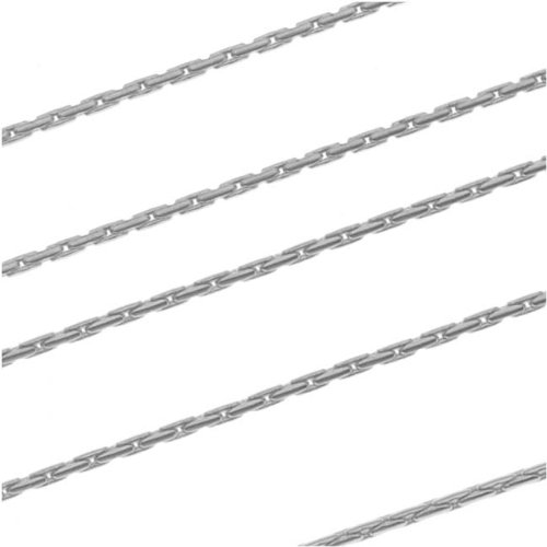 Antiqued Silver Plated Fine Snake Beading Chain 0.8mm Bulk By the Foot (0.8 Mm Snake)