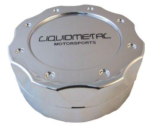 Liquid Metal Chrome Custom Wheel Center Cap Set of 4 Pn: BC-671 Short by Liquid Metal