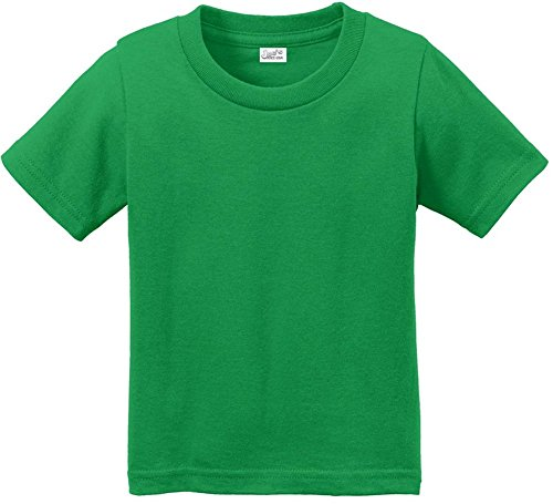 Joe's USA Infant Soft and Cozy Cotton T-Shirts-Clover Green,size 18M -