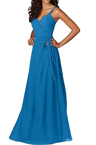 mia La Lang Tanzenkleider Partykleider Brautjungfernkleider Braut Blau A Chiffon Abendkleider Linie Gruen Herrlich Ballkleider T11Radq