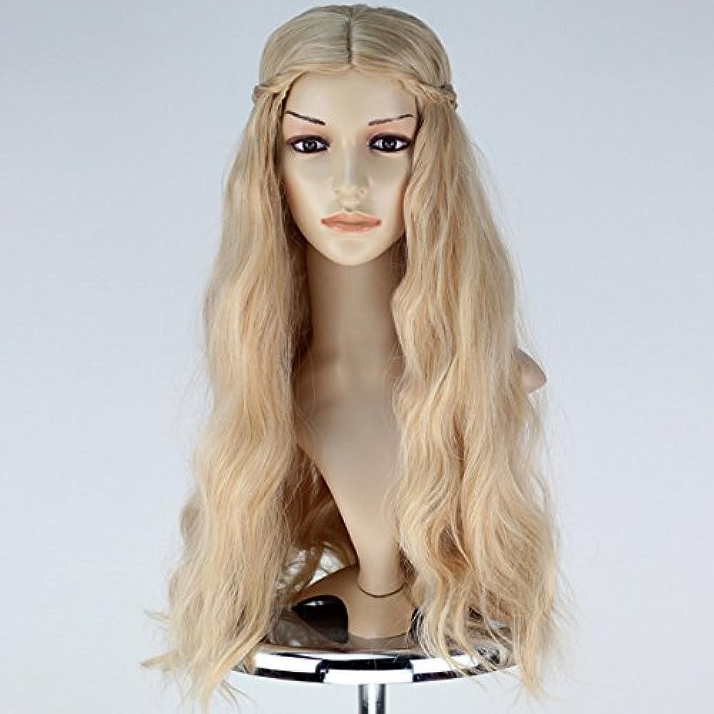 Girl Adult Princess Wig Long Wavy Mixed Blonde With Braid ...