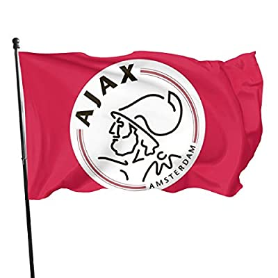 NOT Ajax Amsterdam Flag - Vivid Color and UV Fade Resistant - Canvas Header and Double Stitched -Flags