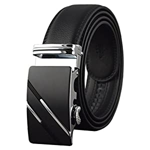 QISHI YUHUA Belt Men's Leather Ratchet Belt,pd137