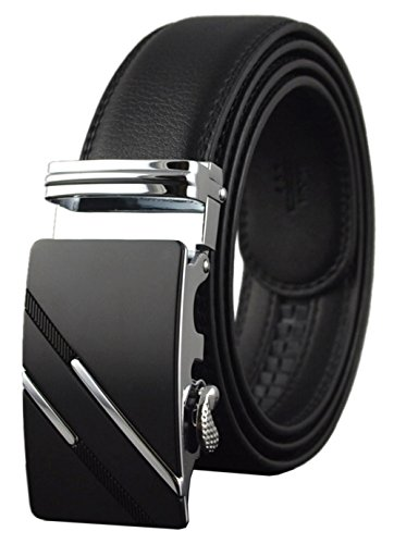 QISHI YUHUA Belt Men's Leather Ratchet Belt,pd-s-137