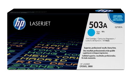 HP Q7581A Color LaserJet Print Cartridge – Retail Packaging – Cyan, Office Central
