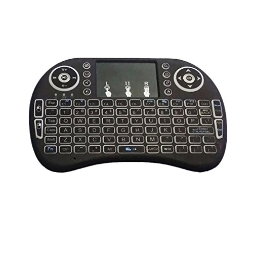 (Sonmer Mini 2.4G Backlit Wireless Touchpad Keyboard For PC Pad Android TV Box)