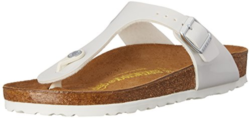 Birkenstock Women's Gizeh Sandal Pearly White Birko-Flor Size 37 M (Gizeh White Leather)