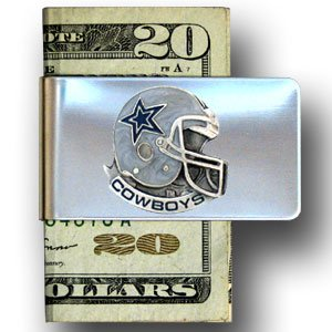 Dallas Cowboys Enameled Pewter Money Clip/Card Holder - NFL Football Fan Shop Sports Team Merchandise - Dallas Cowboys Money Clip