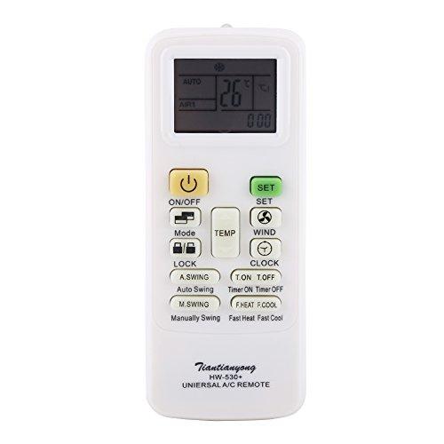 Controlador de Pantalla LCD Universal de Reemplazo de Control Remoto Inteligente del Aire Acondicionado, sin Batería
