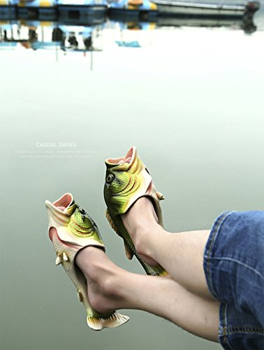 Sandales d'été poisson Creative pantoufles de plage chaussures plates chaussures perméables à l'air pour les hommes et les femmes de poissons de simulation occasionnels