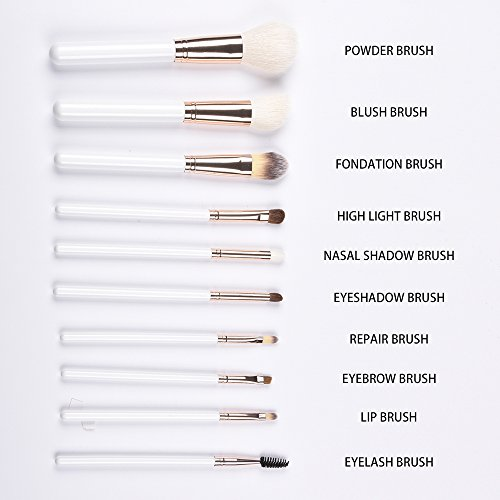 Makeup Brushes White 10 PCS Makeup Brush Set Premium Synthet