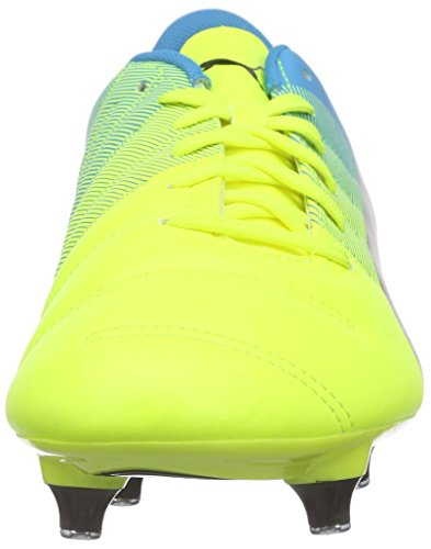 Puma Evopower 4.3 Sg - Botas de fútbol Hombre Amarillo - Gelb (safety yellow-black-atomic blue 01)