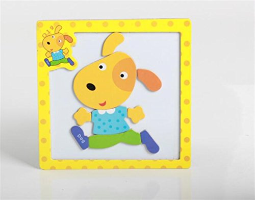 Sevenpring Child Learning Puzzle Wooden Magnetic Peg Puzzle Safe Education Learning Toy Fantastic Gifts for Kids(Dog) ()