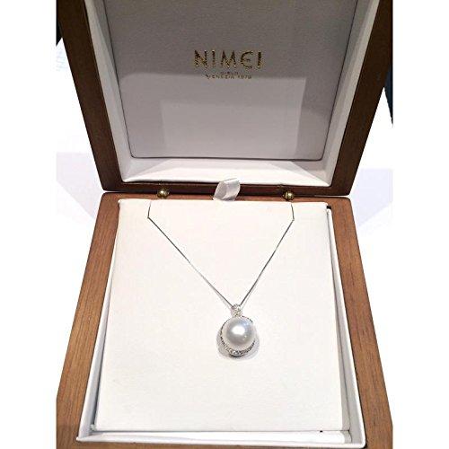 Collier NIMEI perles Australie pcl4866a or blanc diamant