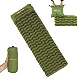 Night Cat Inflatable Sleeping Pads Mat Bed with Pillow and Air Bag for Camping, Backpacking Hiking; Ultra-Light, Compact, Comfortable, 75