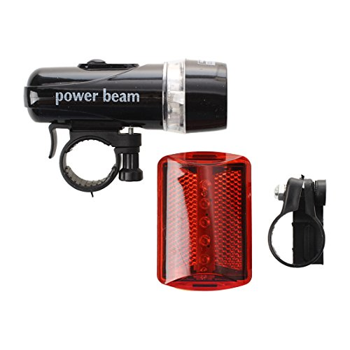 LED Torch - SODIAL(R) 5 LED Front Torch Flashlight + red light bicycle