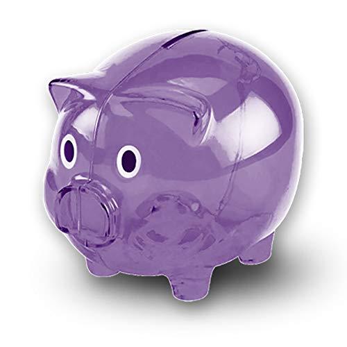 Transparent Cute Piggy Bank, Makes a Perfect Unique Gift, Nursery Decor, Keepsake, or Savings Piggy Bank for Kids ()