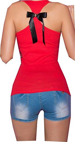 top debardeur koucla rouge noeuds fashion femme