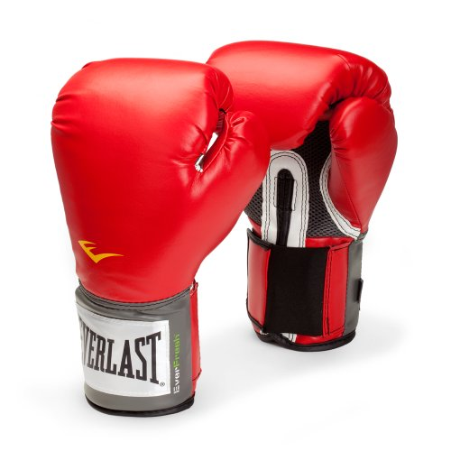 Everlast Pro Style Training Gloves (Red, 14 - Pro Leather Stock