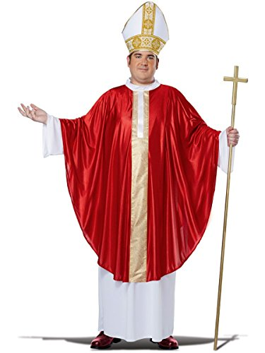 California Costumes Men's Plus-Size The Pope His Divine Holiness Plus, Red/White, Plus Size ()