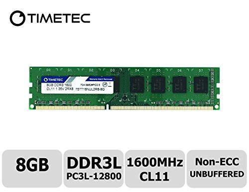 Timetec Hynix IC 8GB DDR3L 1600MHz PC3L-12800 Non ECC Unbuffered 1.35V/1.5V CL11 2Rx8 Dual Rank 240 Pin UDIMM Desktop PC Computer Memory Ram Module Upgrade (8GB)