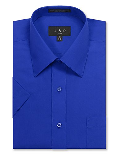 Royal Blue Apparel (JD Apparel Men's Regular Fit Short Sleeve Dress Shirts 17-17.5N X-Large Royal Blue)
