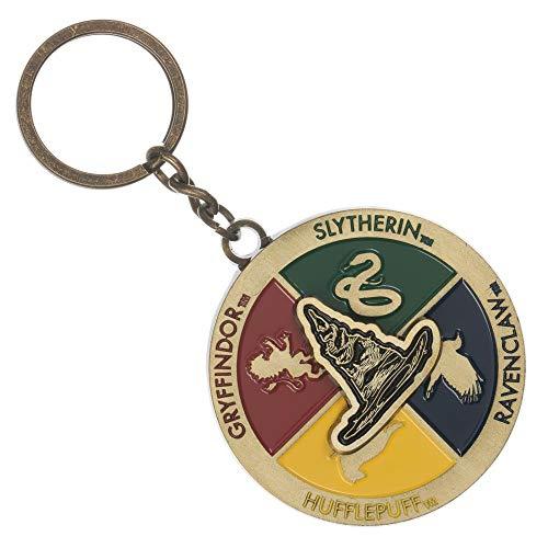 (Hogwarts Houses Sorting Hat Keychain Rotating Hogwarts Keychain)