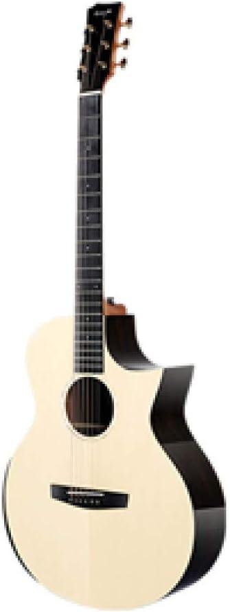 LOIKHGV Guitarras- Guitarra Guitarra de Caoba Maciza de 40 Pulgadas con PastillaGuitarras de Abeto Macizo Instrumentos Musicales de Cuerda, b, 40 Pulgadas