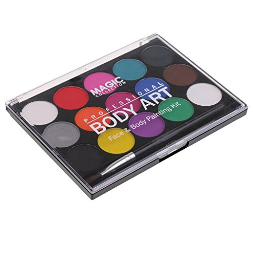 aqua colors face paint - 9