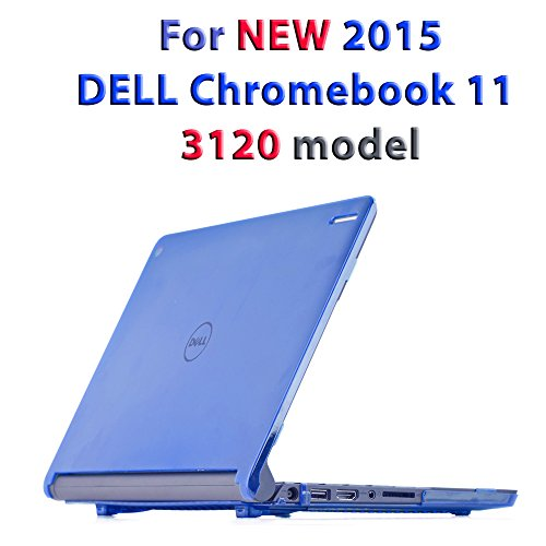 iPearl mCover Hard Shell Case for 11.6 Dell Chromebook 11 3120 Series Released After Feb. 2015 with 180 Degree LCD Hinge (NOT Compatible with Dell C11 210-ACDU, 3180, 3189 Series) (Blue)