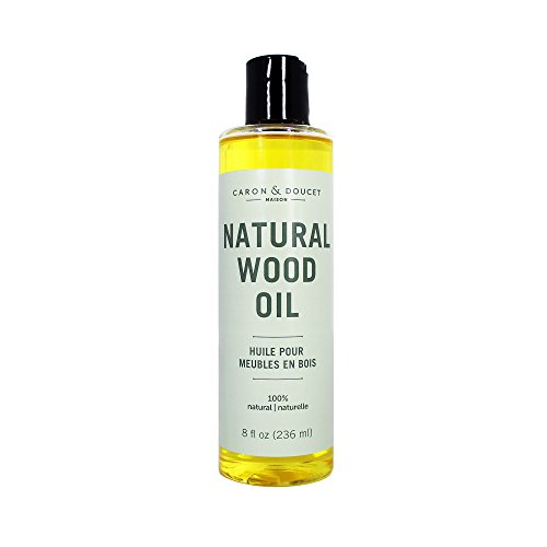 Polishing Oil - Caron & Doucet - Natural Wood Conditioning Oil - 100% Plant Based Wood Conditioning and Polishing Oil - Orange Scented - Suitable for Natural Wood Furniture. (8oz)
