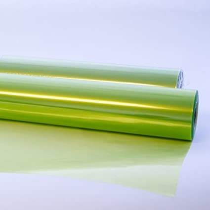 10m X 80cm Light Pale Lime Green Tinted Cellophane Tint Film Flowers Florist Gift Wrap Roll 10 Metres