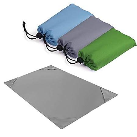 Yuanbbo Beach Blanket Soft Pocket Picnic Blanket Sand Free Quick Drying Heat Resistant For Festivals Hiking