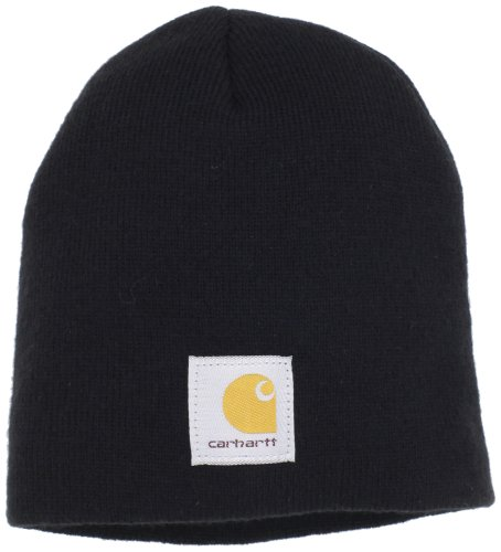(Carhartt Men's Acrylic Knit Hat,Black,One Size)