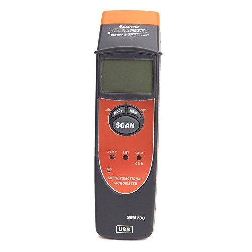 Multi-Functional Tachometer 2.5-99999RPM Handheld Digital LCD RPM Meter USB Interface Speedmeter Recorder SM8238 by Dig dog bone (Image #6)