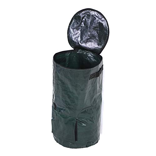 Mintata Collapsible Compost Bag, 2 Sizes Kitchen Garden Yard Organic Waste Compost Bag Environmental Friendly PE Growers Bags (Size : 3560cm)
