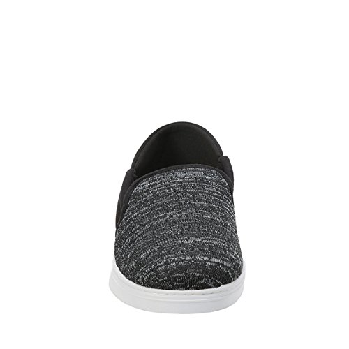 Dearfoams Mens Knit Fold Down Closed Back Slipper Nero