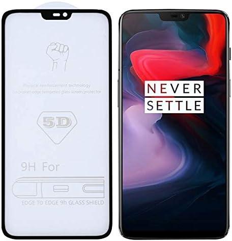 HAIJUN Phone Screen Film 25 PCS 9H 5D Full Glue Full Screen Tempered Glass Film for OnePlus 6 Anti-Scratch Tempered Glass