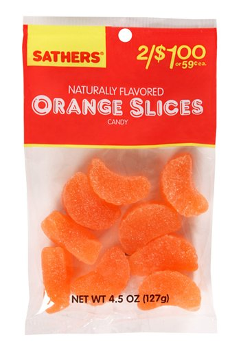 amazon com sathers orange slices 4 5 ounce bags pack of 12