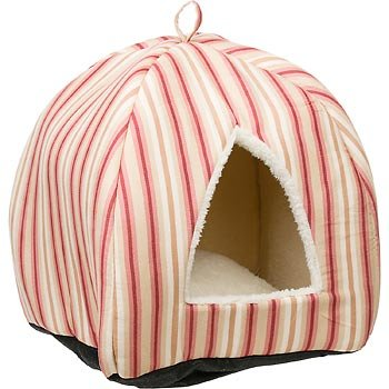 Petco Pyramid Cat Bed in Red Stripes, My Pet Supplies