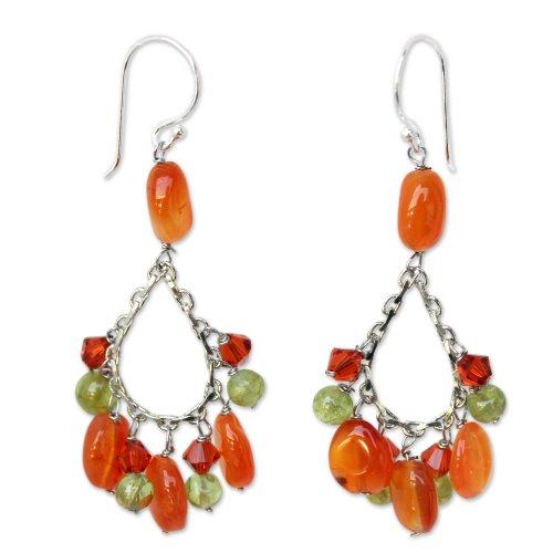 Sterling Silver Carnelian Earrings - 8